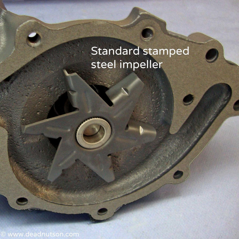 C6OE-A Ford water pump rebuild service with  replacement impeller