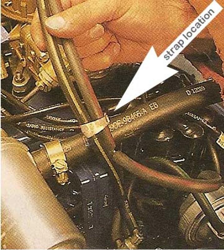 Vacuum Hose Brass Strap
