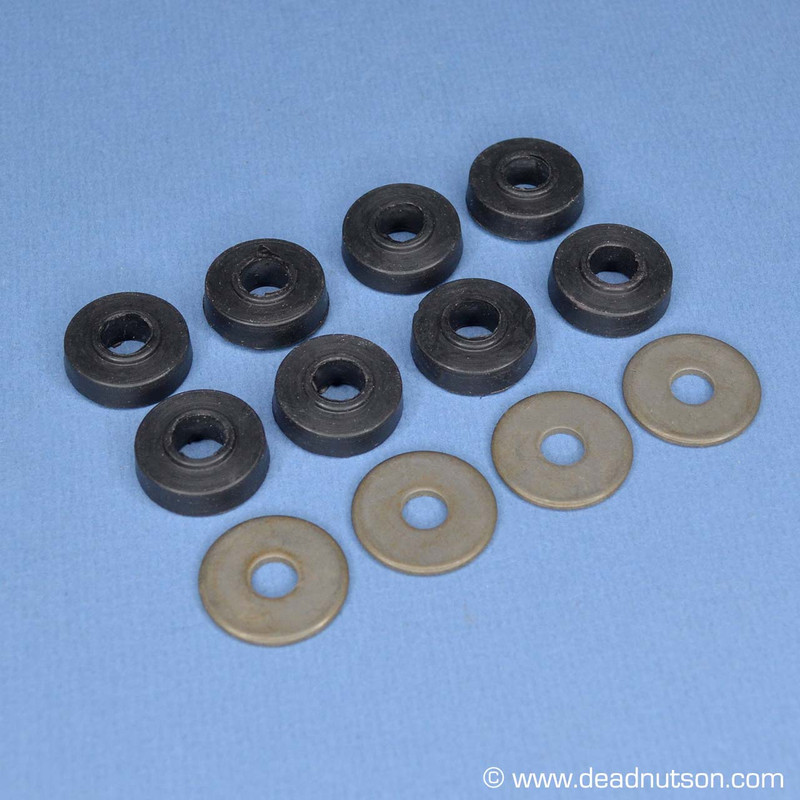 1965-70 Front Shock Rubber Bushings & Washers