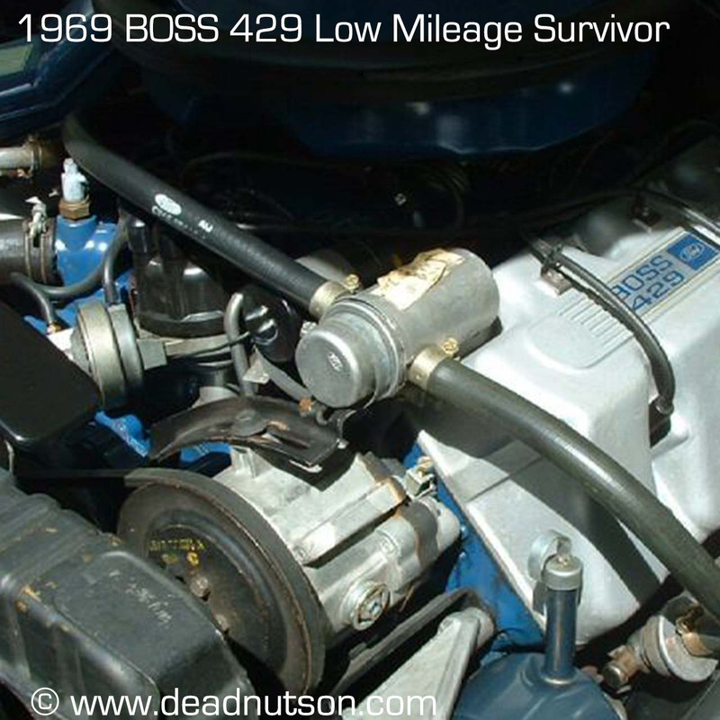 1969 BOSS 429 820T Engine ID Decal