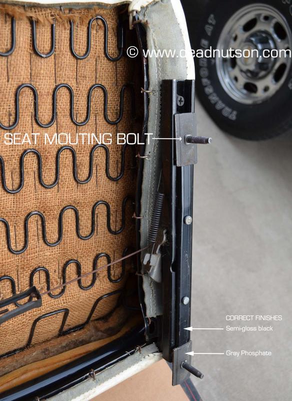 Front Seat Track Stud - Repair Kit