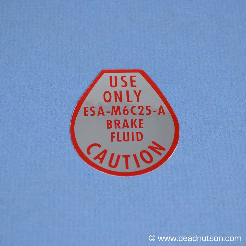 1967-68 Disc Brake Master Cylinder Cap Decal