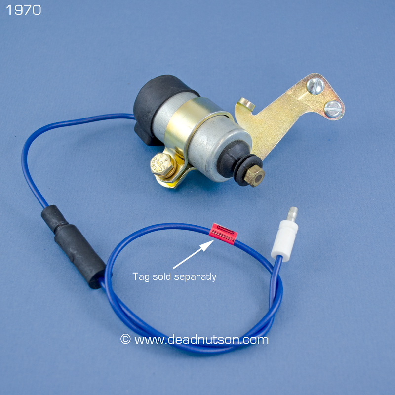 1970 Carburetor Idle Stop Solenoid