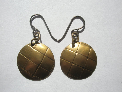 Brass Handcrafted Earrings by Salmon Beach Jewelry