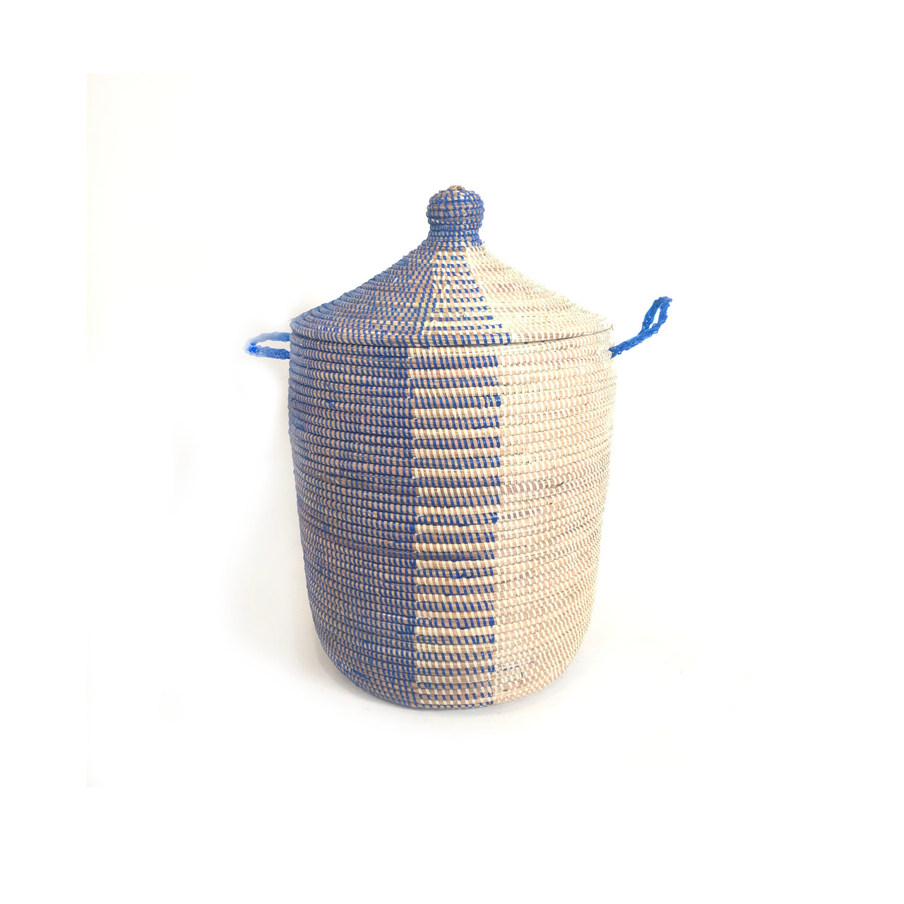 Medium Graphic Basket   Navy + White