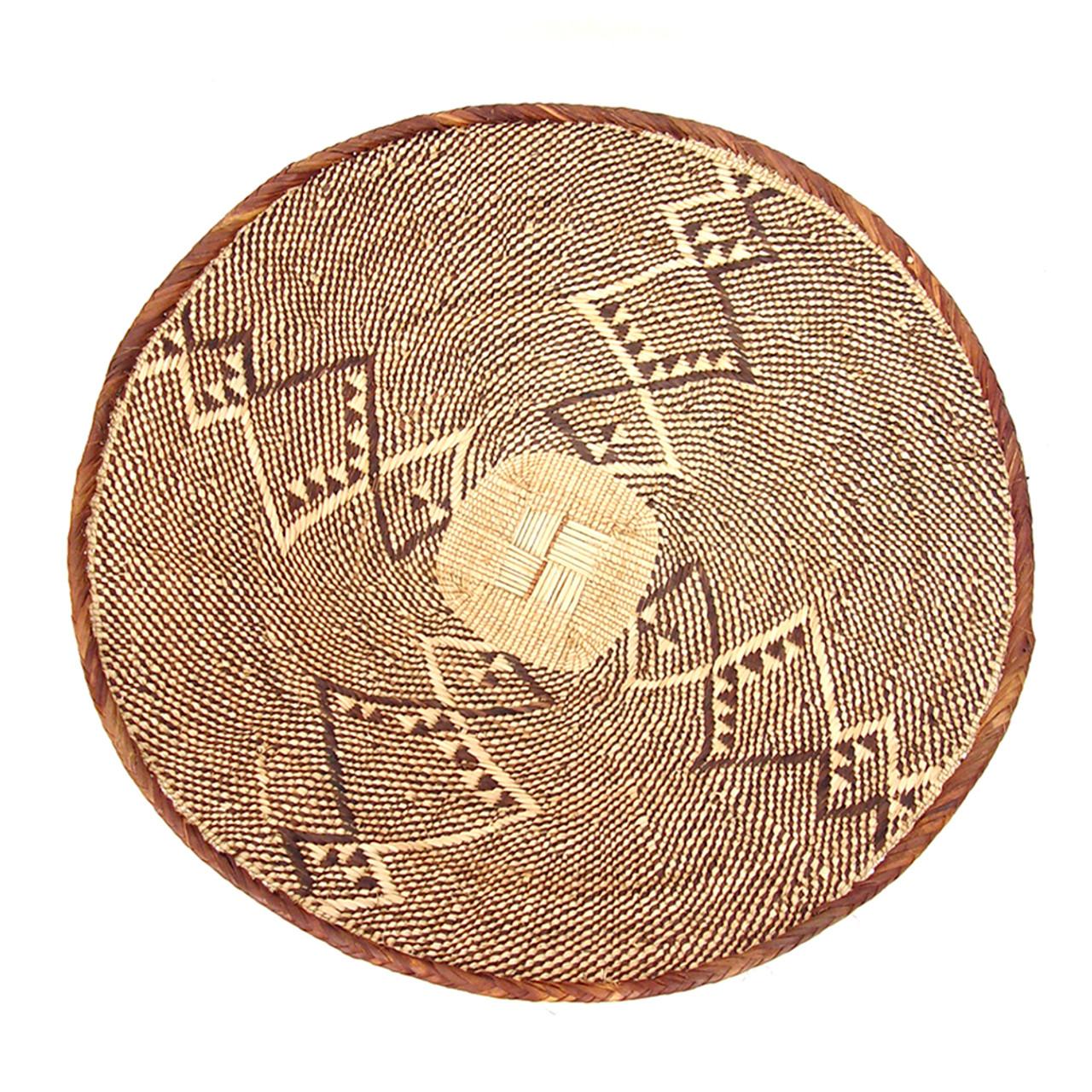 Large African Tonga Basket Wall Basket Mbare