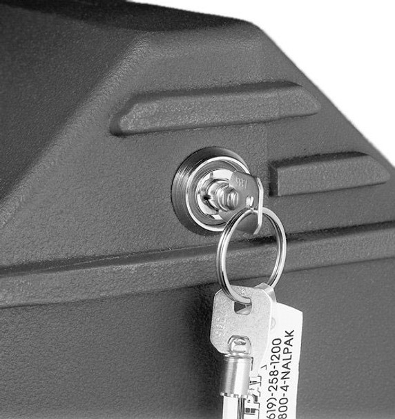Installed Recessed Key Lock