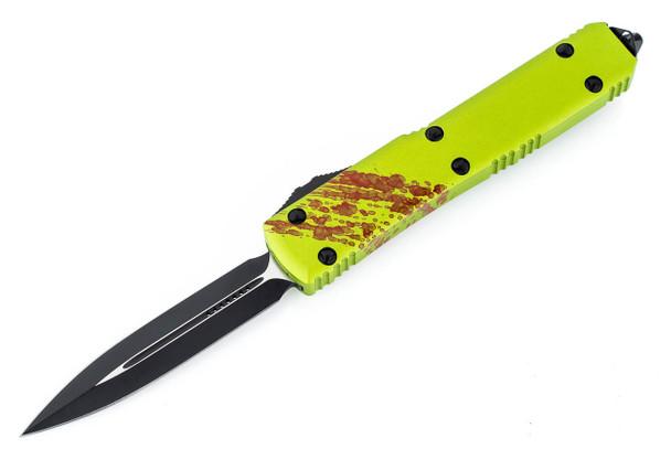 Microtech 122-1Z Ultratech D/E - Zombietech Handle - Contoured - Black Blade
