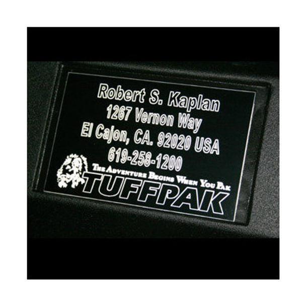 Tuffpak Custom Name Plate