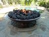 "60"" Concrete Barbados fire bowl with lava rock"