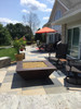 """50"""" Corinthian fire pit with amber fire glass"""