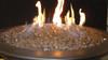 Copper fire glass in lit fire bowl