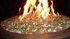 Mediterranean blend fire glass in lit fire bowl