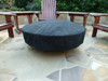 Acrylic round fire pit cover in black