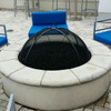 stainless steel mesh dome on round fire pit
