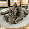 "Campfire fire pit logs on 24"" burner- side view"