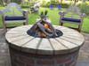 Woodstack fire pit logs