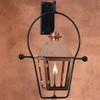 Atlas copper gas light with wall yoke mount
