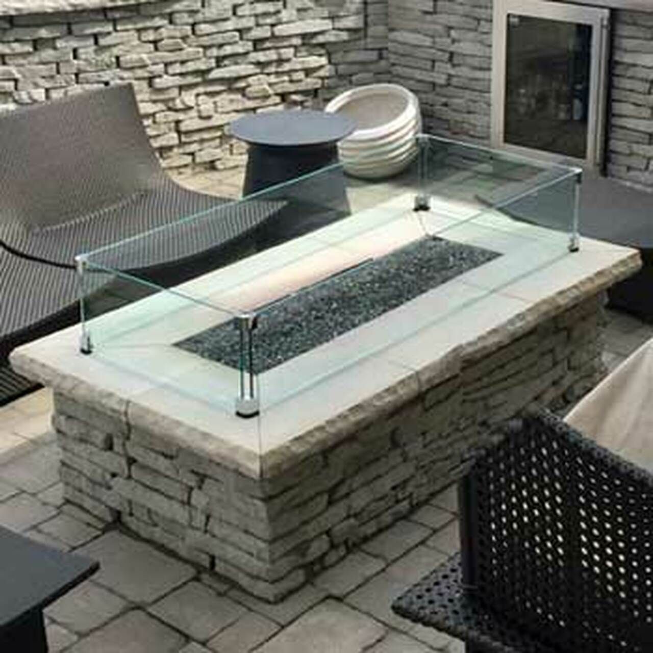 Custom Glass Wind Guard For Fire Pits Flame Creation