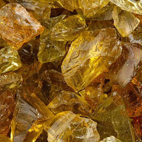 Amber fire glass