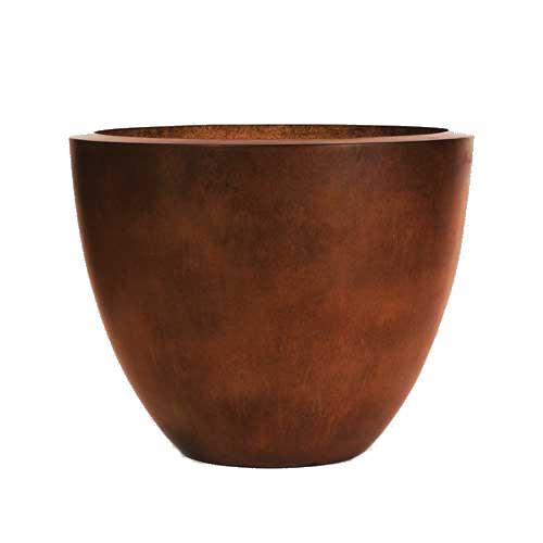 30' Ravenna fire bowl in burnt terra cotta