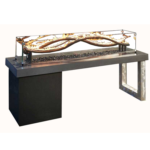 The wave gas fire pit with propane gas door