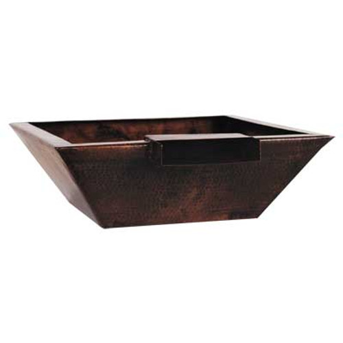 "29"" Corinthian copper fire and water bowl"