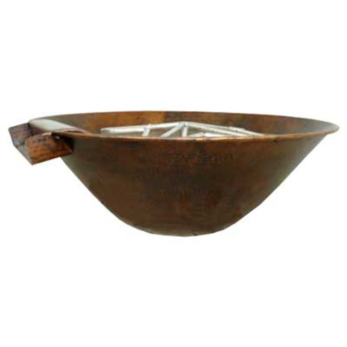 "31"" Tuscano Fire & Water Copper Bowl"