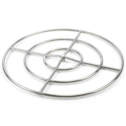 30 inch high capacity stainless steel fire ring