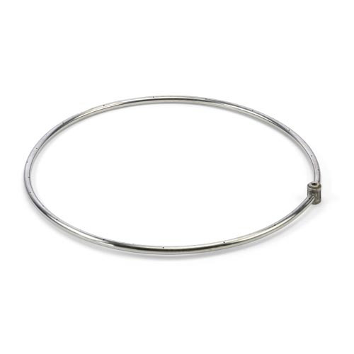 "24"" stainless steel single gas fire ring"