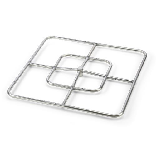 """24"""" square stainless steel fire pit burner"""