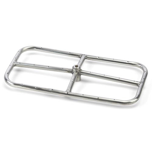 "24"" x 12"" stainless steel rectangle burner"