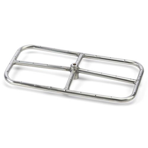 "24"" x 12"" stainless steel rectangle burner"