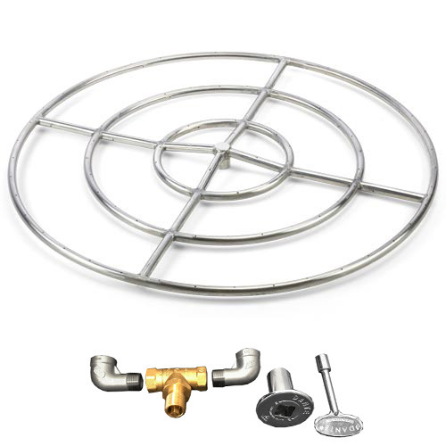 """48"""" High Capacity gas fire ring"""