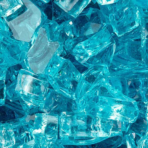 Aquamarine fire glass