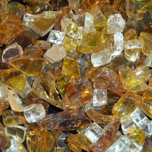 Golden blend fire glass