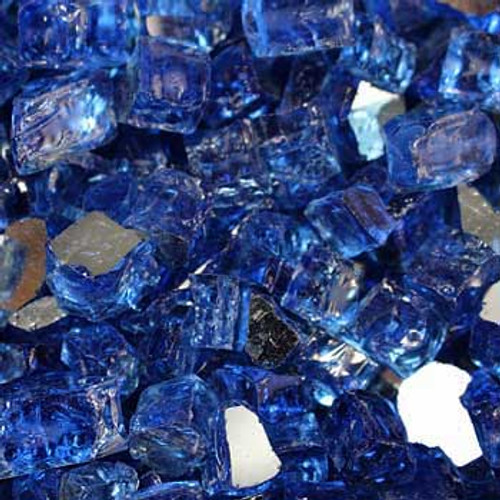 Large cobalt reflective fire glass