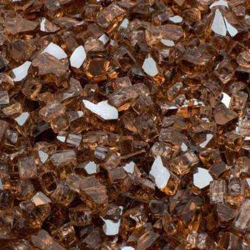 Large copper reflective fire glass