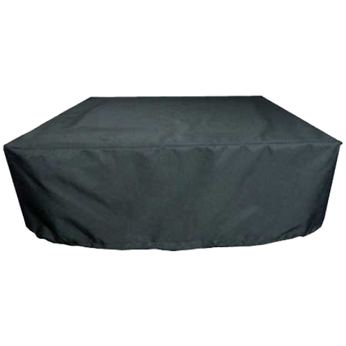 Custom acrylic square fire pit cover in black
