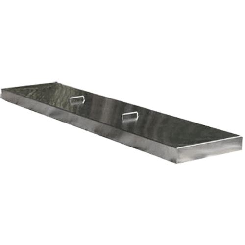 Stainless steel custom rectangle fire pit cover with handles