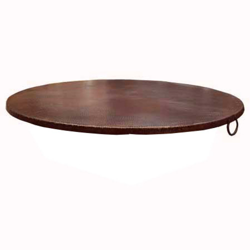 """45"""" copper fire pit cover with turn down"""