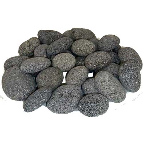 """2"""" - 3"""" oval shaped lava stones for a fire pit feature"""