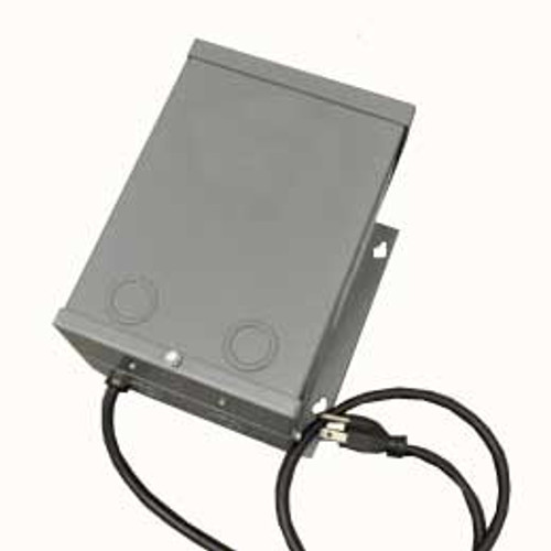 Power supply or control panel for low voltage electronic ignition burners
