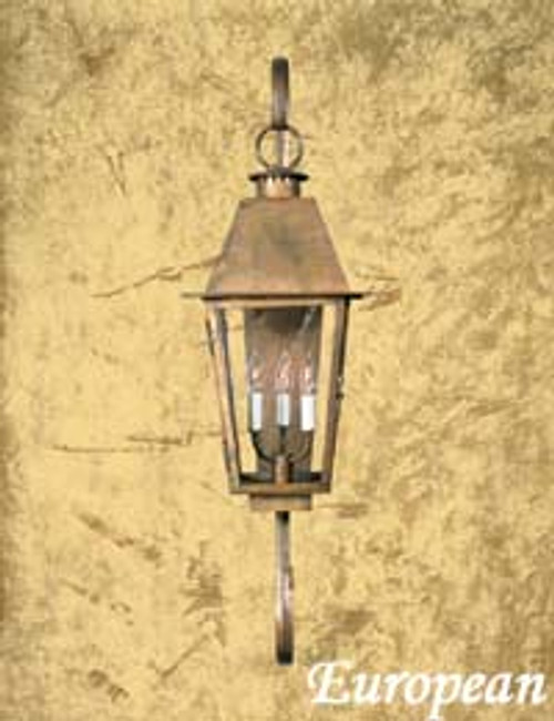 Copper gas light- The European