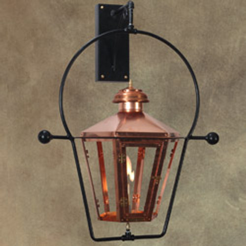 "12""w x 23""h custom gas light with wall yoke- The Traditional"
