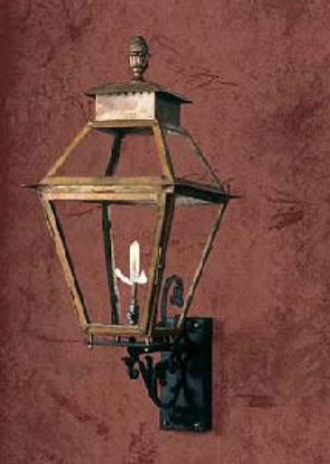 Large copper gas light- The Vicksburg Gas Light