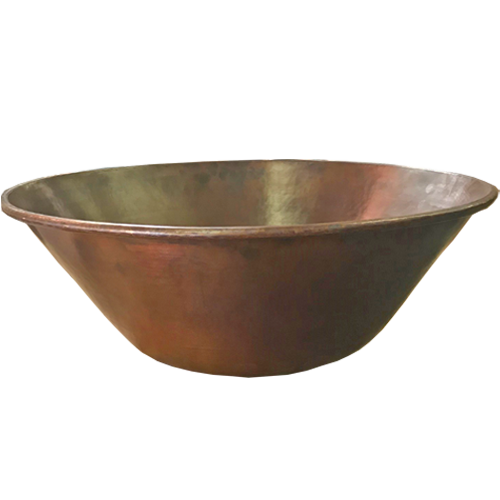 "24"" Mediterranean fire bowl with copper"