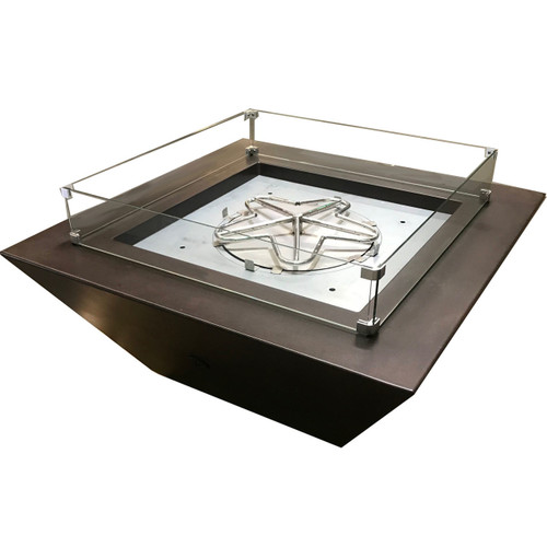 Square glass wind guard