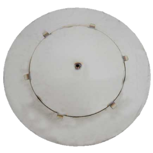 """52"""" flat round fire pit disc with 18"""" access plate"""
