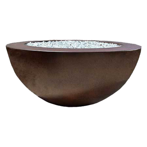 "48"" Ravello Fire Bowl with 7"" Wide Ledge"